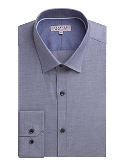 Chambray Slim Fit Long Sleeve Formal Shirt