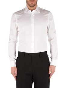 Floral Jacquard Tailored Fit Formal Shirt