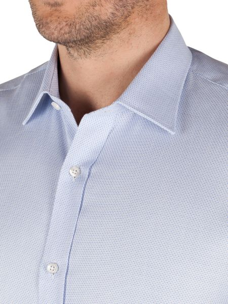 Alexandre of England Textured Weave Tailored Fit Formal Shirt