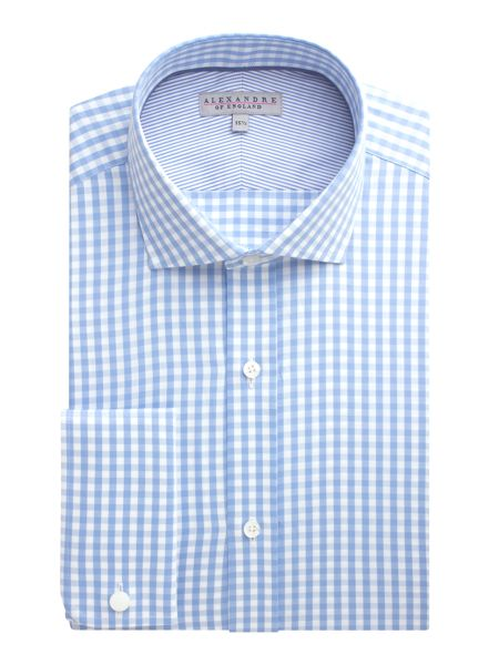 Alexandre of England Gingham Twill Tailored Fit Formal Shirt