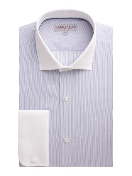 Alexandre of England Stripe Tailored Fit Formal Shirt