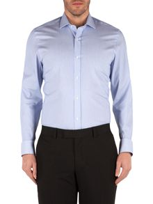 Raised Stripe Tailored Fit Formal Shirt