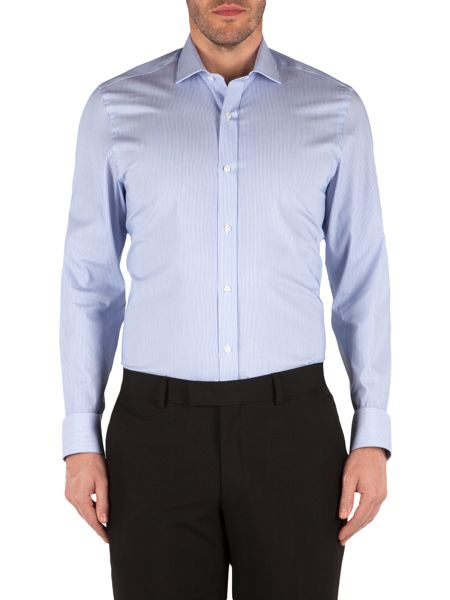 Alexandre of England Raised Stripe Tailored Fit Formal Shirt