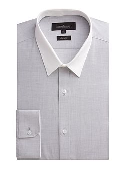 Plain Slim Fit End On End Formal Shirt