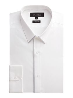 Men's Limehaus Plain Slim Fit Poplin Formal Shirt