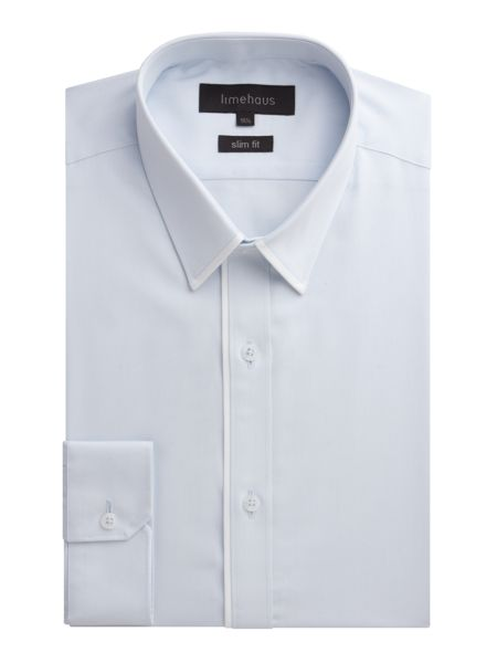 Limehaus Plain Slim Fit Poplin Formal Shirt