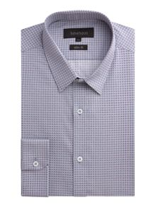 Limehaus Pattern Slim Fit Tile Print Formal Shirt