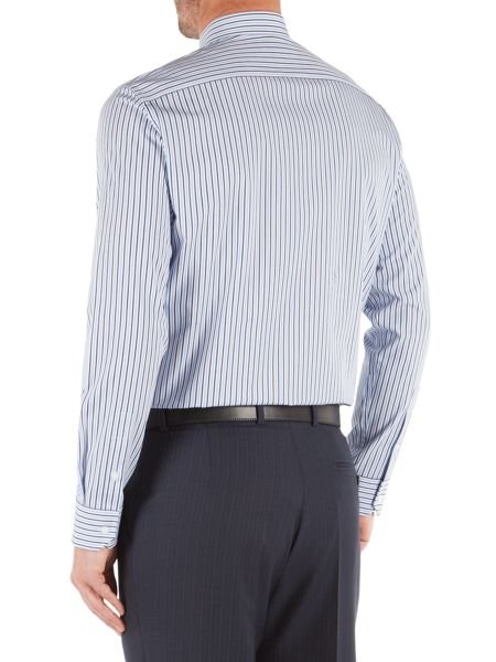 Pierre Cardin Stripe Tailored Fit Classic Collar Formal Shirt