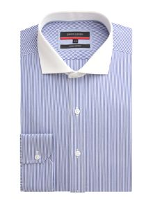 Pierre Cardin Stripe Tailored Fit Long Sleeve Shirt