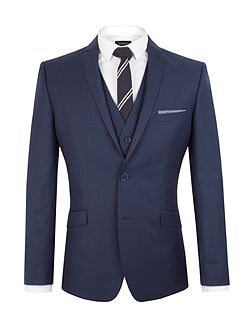 Plain Twill Slim Fit Jacket