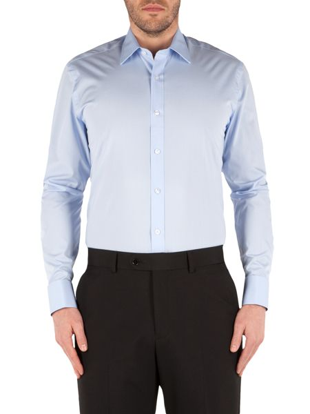 Pierre Cardin Pierre Cardin Light Blue Poplin Shirt