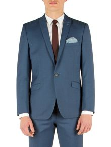 Plain Notch Collar Slim Fit Suit Jackets