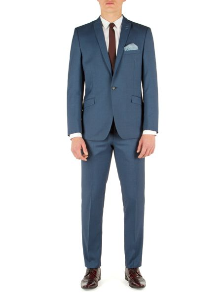 Limehaus Plain Notch Collar Slim Fit Suit Jackets