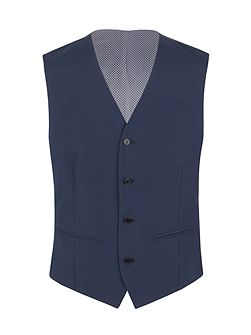 Houndstooth Slim Fit Waistcoat