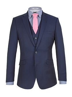 Twill Weave Tailored Fit Jacket