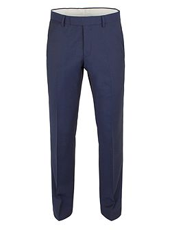 Men's Racing Green Twill Weave Tailored Fit Trousers