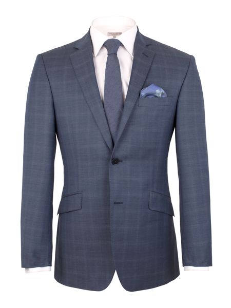 Alexandre of England Subtle Check Tailored Fit Jacket