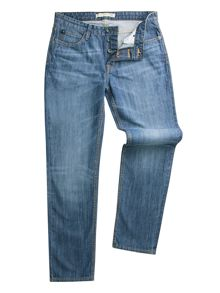 Racing Green Dene Straight Fit Blue Wash Jean