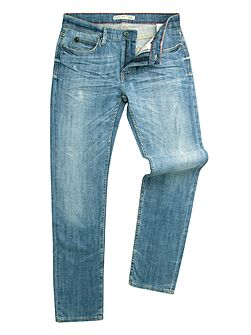 Marr Slim Fit Blue Distressed Wash Jean