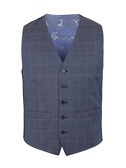 Subtle Check Tailored Fit Waistcoat