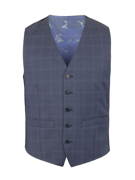 Alexandre of England Subtle Check Tailored Fit Waistcoat