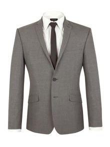 Limehaus Check Notch Collar Slim Fit Suit Jacket
