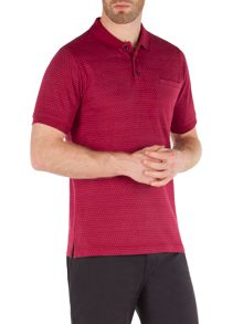 Racing Green Francis Jacquard Spot Polo Shirt