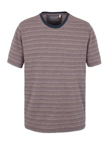 Racing Green Wellington Textured Stripe T-Shirt