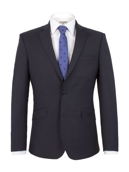Alexandre of England Stripe Tailored Fit Jacket