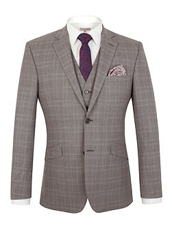Subtle Check Tailored Fit Jacket