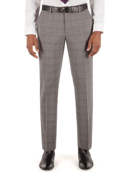 Alexandre of England Subtle Check Tailored Fit Trousers