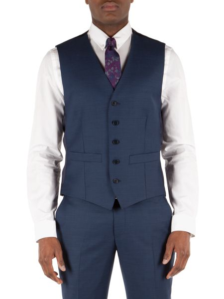 Alexandre of England Pick And Pick Tailored Fit Waistcoat