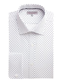 Dobby Raindrop Tailored Fit Formal Shirt