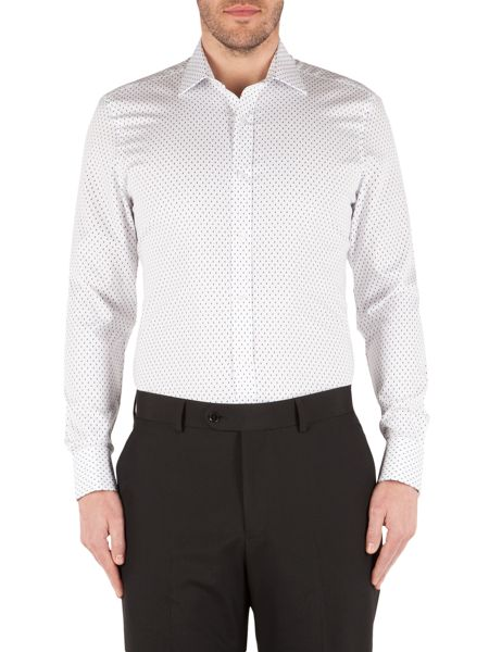 Alexandre of England Dobby Raindrop Tailored Fit Formal Shirt