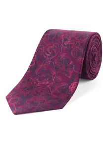 Rose Over Sketch Tie