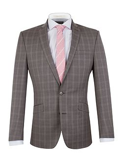 Men's Racing Green Check Notch Collar Tailored Fit