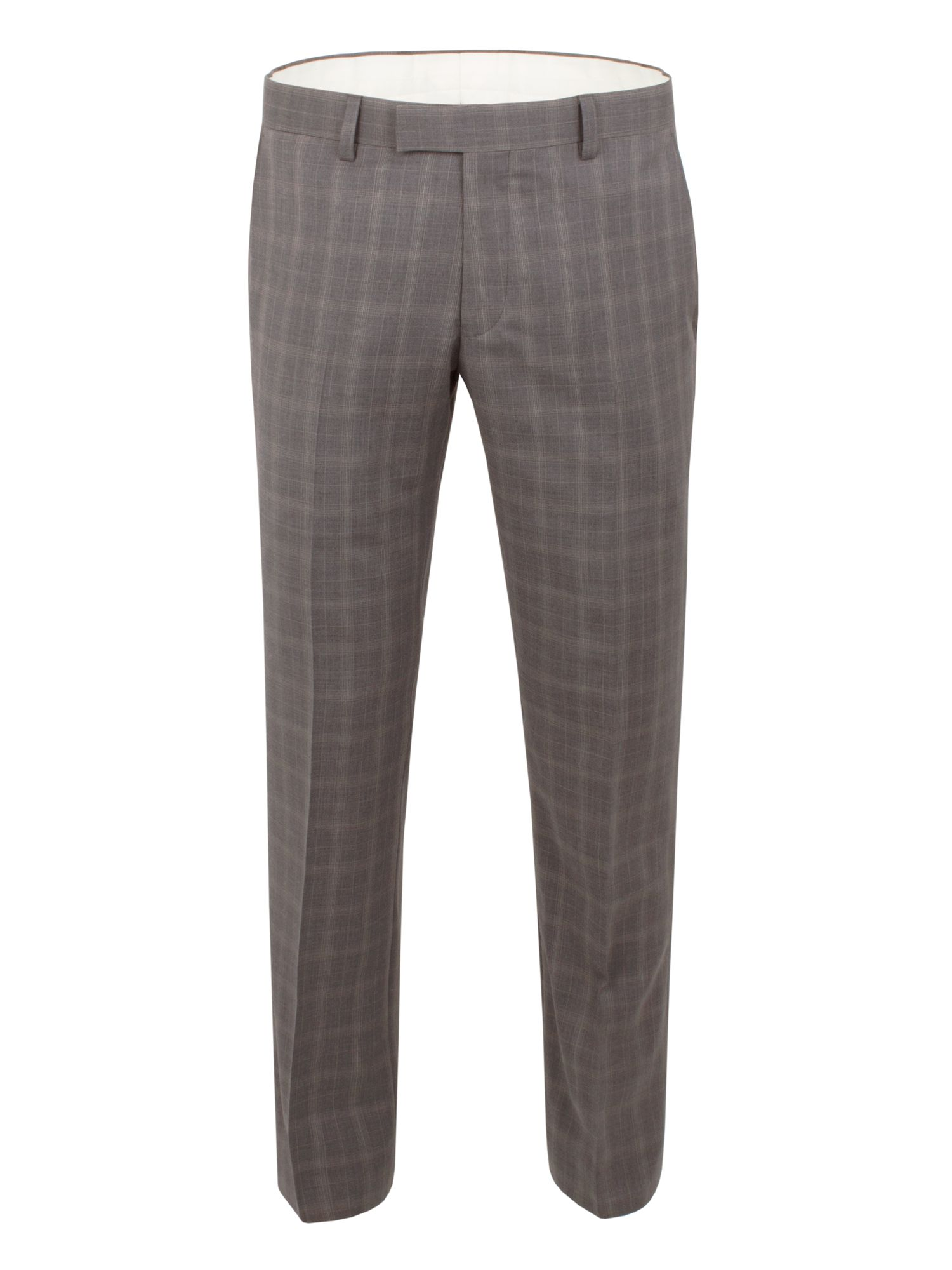 Racing Green Men's Racing Green Check Tailored Fit Suit Trousers, Grey