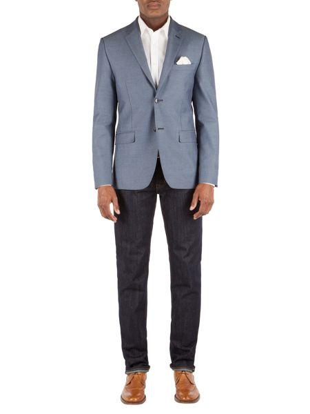 Alexandre of England Hopsack Tailored Fit Jacket