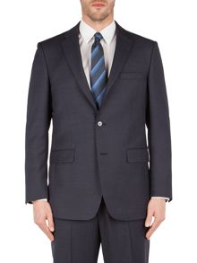 Pin Dot Notch Collar Classic Fit Suit Jacket