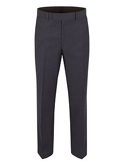 Pin Dot Notch Collar Classic Fit Suit Trousers