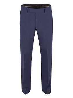 Plain Tailored Fit Suit Trousers