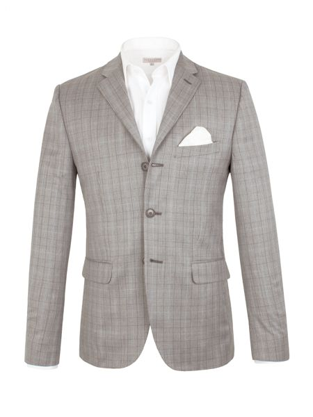 Alexandre of England Check Tailored Fit Jacket