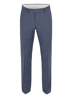 Plain Weave Tailored Fit Trousers