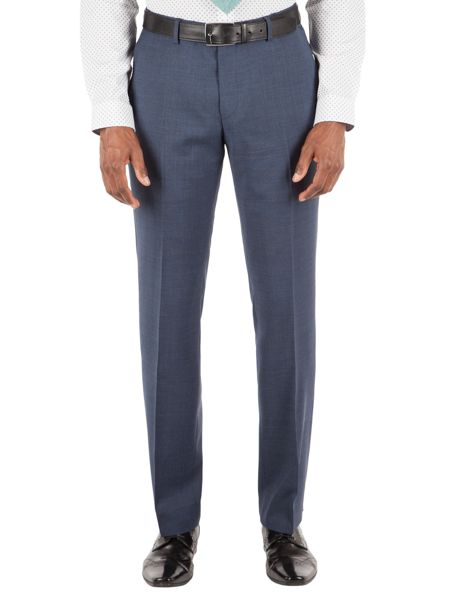 Racing Green Plain Weave Tailored Fit Trousers