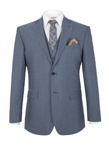 Alexandre of England Slate Blue Tonic Regular Fit Jacket