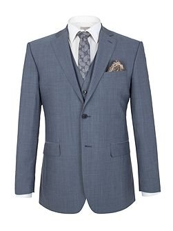 Slate Blue Tonic Regular Fit Jacket