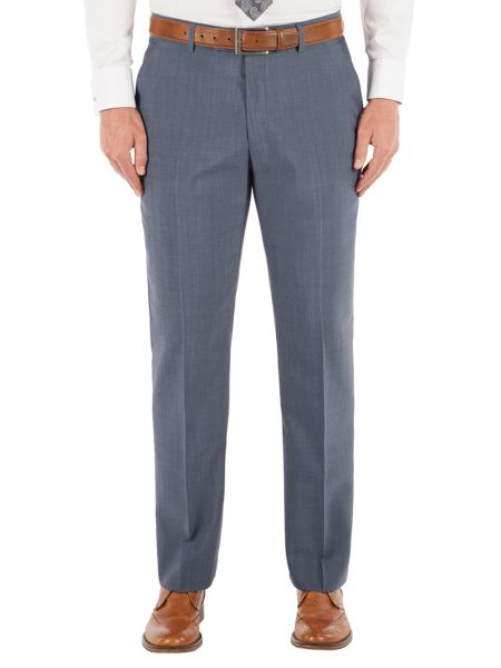 Alexandre of England Slate Blue Tonic Regular Fit Trousers
