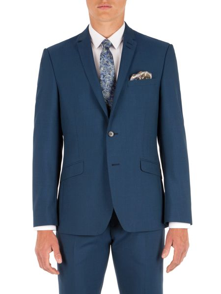 Alexandre of England Plain Notch Collar Slim Fit Suit Jacket