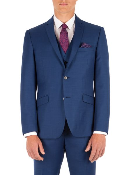 Alexandre of England Plain Pick and Pick Slim Fit Suit Jacket
