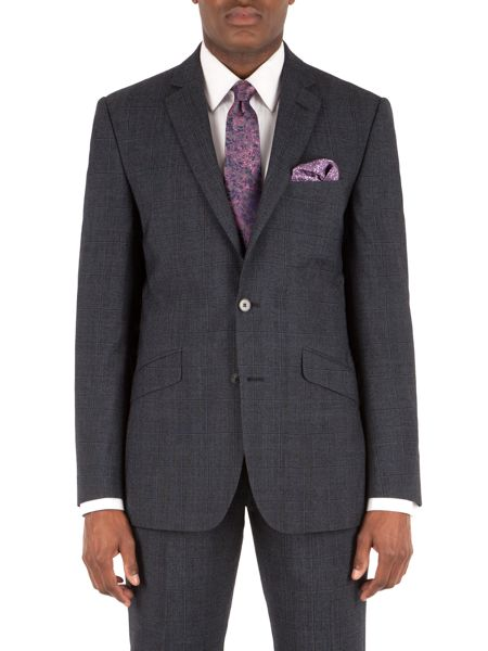 Alexandre of England Check Tailored Suit Jacket